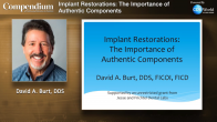 Implant Restorations: The Importance of Authentic Components Webinar Thumbnail