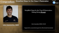 Simplified Steps for the Class II Restoration Webinar Thumbnail